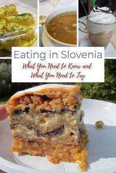 Slovenian food is rich and diverse and heavily influenced by the cuisine of its neighbors. Here are our favorite foods and favorite restaurants in Slovenia! Slovenia Travel, Slovenia Info, Banana Dessert, Dessert Bread, Slovenian Food, Croatian Recipes, Hungarian Recipes, Bohinj, Exotic Food