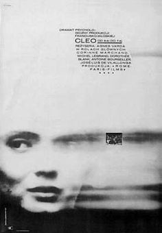 Cleo od 5 do 7 (Cleo from 5 to 1964 movie poster designed by A. Dabrowski via Vintage Polish Posters Vintage Graphic Design, Graphic Design Posters, Graphic Design Typography, Graphic Art, Polish Posters, Film Posters, Book Design, Design Art, Films Cinema