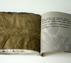 pecan II, artist book, detail by lotta helleberg
