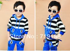 Spring and autumn 2pcs/set Boys Girls clothes Long Sleeve Sport shirt + Pants Sport Hooded Children Clothing kids Suit
