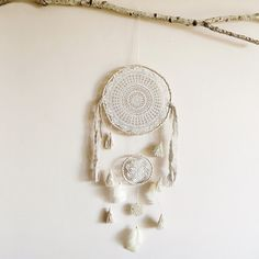 Boho dream catcher, wall decoration, large dreamcatcher, unique, wall hanging, handmade, crochet doily, room decor, tree of life, home decor