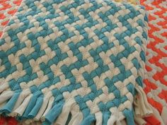 Captivating Interesting Pattern Made By Lining Up Braids. From Greenatheartrugs On  Etsy. Turquoise ChevronDiy RugsBraided ...