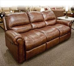 Futura Leather Reclining Sofa $750 Part 35