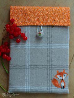 Kreuzstich Hülle Tasche Fuchs Herbst / Cross Stitching Cover Bag fox / Märchenhaftes Sticken