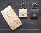 Weepy - Genuine Leather Key Chain Pouch / Purse / Coin Bag / Coin Holder / Coin Wallet in Handmade ( Buy 2 get 1 Free )