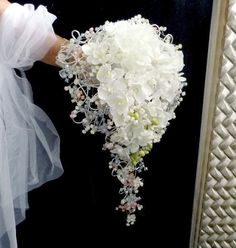 Silk flowers wedding bouguet  Crystal orchids  and by wandadesign, €140.00