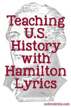 Best way to teach Hamilton (the Musical) in the classroom.  Many moons ago (2009 to be exact), before Hamilton was a big hit on Broadway, Lin Manuel Miranda presented a rap song to President Obama at the White House Poetry Jam.  It was funny, fresh a�