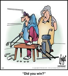 Some days this seems logical. I Rock Bottom Golf Some days this seems logical. I Rock Bottom Golf Herman Cartoon, Herman Comic, Cartoon Jokes, Funny Cartoons, Funny Jokes, Cartoon Characters, Thema Golf, Golf Handicap, Golf Holidays