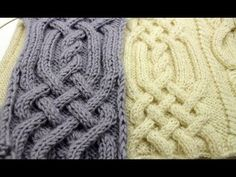 Front Cross Cable Stitch _ Вязание Аранов (часть3) - YouTube