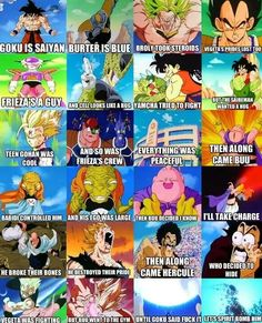 DBZ - Goku is so BadAss. I honestly can't put his awesomeness into words. Manga Anime, Dc Anime, Dragon Ball Gt, Dragonball Super, Dbz Memes, Funny Memes, Hilarious, Funny Dragon, Kai