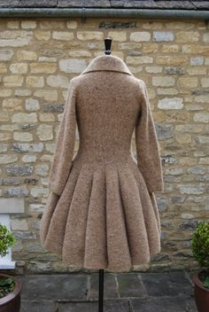 Hover over images below to change images of Hand-knitted Holst Coat
