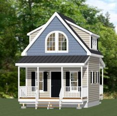 This is a PDF Plan available for Instant Download.  16x20 House  1 bedroom home, 1 bath, full size range and microwave.  Sq. Ft: 574 (297 1st, 277 2nd) Building size: 16-0 wide, 30-6 deep (including porch & steps) Main roof pitch: 14/12 Ridge height: 24 Wall height: 8 (1st), 9 (2nd) Foundation: CMU blocks Lap siding & shakes siding  PLANS INCLUDE: Elevations Exterior / Interior Dimension Plan Floor / Ceiling Framing Plan Roof Framing Plan Cross Section Door & Windo...
