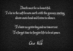Oscar Wilde quote - death