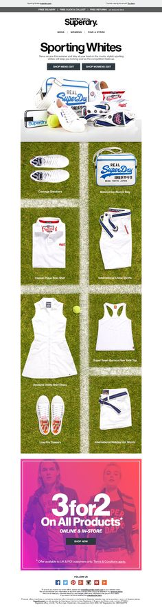 Superdry Sporting Whites Wimbledon Email / Newsletter Design