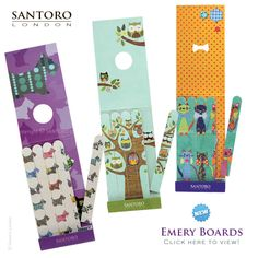 News from Santoro: New Eclectic Emery Boards