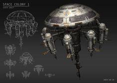 ArtStation - Space Station 1, Tore Wesolowski