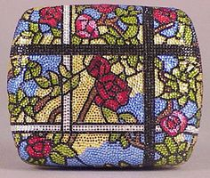 Judith Leiber Multicolored Crystal Stained Glass Minaudiere