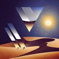 Fate partire un album dei Pink Floyd e perdetevi nei paesaggi retro-futuristi della serie 'NeoWave'.