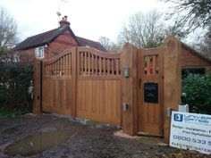 timber gates newdigate surrey Timber Gates, Wooden Pillars, Electric Gates, Automatic Gate, Driveway Gate, Surrey, Google Images, My House, Shed