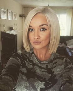 The blunt bob is the most popular cut this Fall. It looks amazing on everyone!