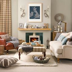 Like this home. Like the colour in the the fireplace. Living room thumbs up.