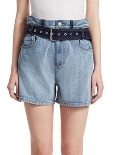 $82.49. 3.1 PHILLIP LIM Short Paper Bag Denim Shorts #31philliplim #short #denim #clothing Tie Shorts, Pleated Shorts, Ruffle Shorts, Denim Shorts, Tailored Shorts, Casual Shorts, Embellished Shorts, 3.1 Phillip Lim, French Terry