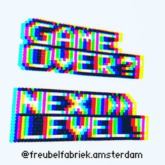 Game Over or Next Level? This is my original design. Use only personal non commercial 🙃 Pixel Art Templates, Perler Bead Templates, Diy Perler Beads, Perler Bead Art, Pearler Beads, Melty Bead Patterns, Perler Patterns, Beading Patterns, Pixel Beads