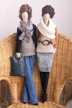 Custom OOAK Fabric Dolls  made by Agah Poland