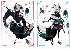 [ CLOSED ] Semi-chibi adopt 15 and 16 by Piku-chan21