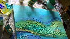 Acrylmalerei 2 Abstract acrylic Painting 2 Spachtelmasse Modelling paste