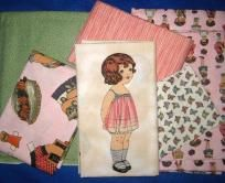 Original Windham Paper Doll Quilt Kit - Fabric and Pattern RARE! $157.00