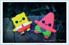 Polymer Clay Miniatures, Polymer Clay Charms, Polymer Clay Creations, Polymer Clay Art, Diy Clay, Clay Crafts, Spongebob Patrick, Cute Pokemon Wallpaper, Diy Gifts For Friends