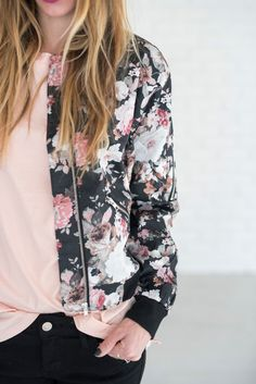 I recently featured THIS jacket on my blog HERE. I LOVE it, but the price is a little steep... here's your solution! It pairs so well with stripes, solids, or polka dots. Not to mention it's really, r