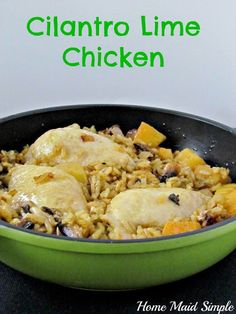 Cilantro Lime Chicken Skillet meal
