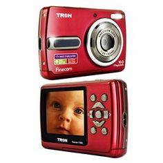 """Câmera Digital Tron FineCam FL160 Vermelha c/ Visor LCD 2,4"""", 16MP, Estabilizador de Imagens, Vídeo em VGA, Detector de Face e Sorriso - Compactas no Pontofrio.com"""