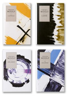 Virginia Woolf Books   By Angus Hyland for Penguin