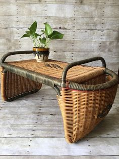 Vintage Wicker Bed Tray Table