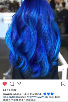 65 Iridescent Blue Hair Color Shades & Blue Hair Dye Tips Hair Color blue hair color Hair Color Shades, Hair Color Blue, Cool Hair Color, Green Hair, Bright Blue Hair, Royal Blue Hair, Dyed Hair Blue, Blue Ombre Hair, Dyed Hair Pastel