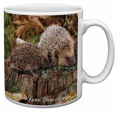 Two Hedgehogs 'Love You Mum' Coffee/Tea Mug Christmas Stocking Fille, AHE-5lymMG