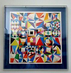 Quilt like art by yaacov-agam