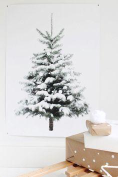 Weihnachtsbaum Print für die Wanddekoration von byebyebirdieengland auf Etsy