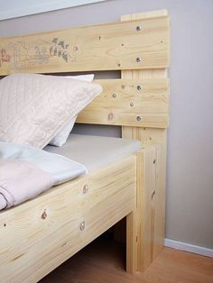 diy bed headboard ideas, wood and cross stitch embroidery Diy Bed Headboard, Headboards For Beds, Headboard Ideas, Fabric Headboards, Upholstered Headboards, Bunk Beds, Bed Designs With Storage, Diy Storage Bed, Diy Bed Frame Plans