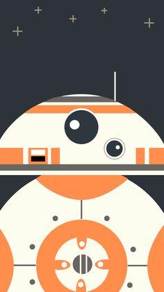 スターウォーズフォースの覚醒/BB-8のどアップ iPhone壁紙 Wallpaper Backgrounds iPhone6/6S and Plus  Star Wars iPhone Wallpaper