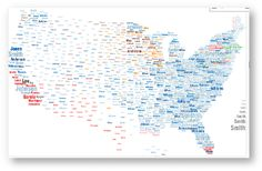 Map of American Surnames © National Geographic Society