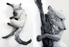 Фигуры, сделанные скульптором Beth Cavener Stichter.