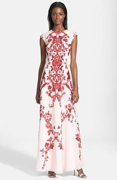 A Ted Baker floral-print maxi dress, perfect for summer gatherings