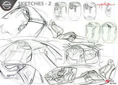 Nissan 2025 Interior Concept Sketches