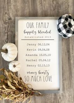 Excited to share this item from my shop: Blended family sign Family Wood Signs, Family Name Signs, Family Names, Last Name Signs, Blended Family Pictures, Quotes About Blended Families, Oil Based Stain, Baby Lernen, Teacher Appreciation