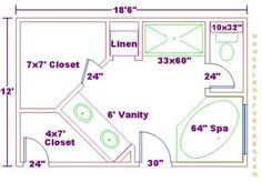 Best Master Bath Floor Plans On Bathroom Design 13X15 400 x 300