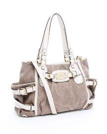 Canvas Leather Devine Michael Kors Diaper Bag Purse Bags